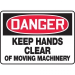 "Accuform MEQM160VP, Sign ""Keep Hands Clear of Moving Machinery"""