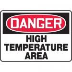 """Accuform MEQM164VP, Plastic Sign """"Danger High Temperature Area"""""""