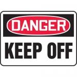 "Accuform MEQM180VA, 18″ x 24″ Aluminum Sign: ""Danger Keep Off"""
