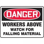 """Accuform MEQM181VP, Sign """"Workers Above Watch for Falling Material"""""""