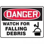 "Accuform MEQM184VP, Plastic Sign ""Danger Watch for Falling Debris"""