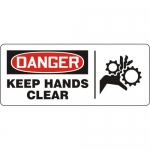 "Accuform MEQM192XF, Dura-Fiberglass Sign ""Danger Keep Hands Clear"""