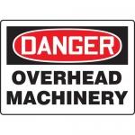 """Accuform MEQM201VA, Aluminum Sign """"Danger Overhead Machinery"""""""