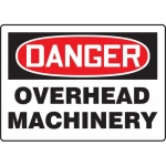 """Accuform MEQM202VP, Plastic Sign """"Danger Overhead Machinery"""""""