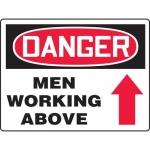 "Accuform MEQM225XT, BIGSigns Sign ""Danger Men Working Above"""