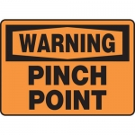 "Accuform MEQM326VA, 10″ x 14″ Aluminum Sign: ""Warning Pinch Point"""