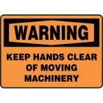 "Accuform MEQM333XL, OSHA Sign ""Keep Hands Clear of Moving Machinery"""