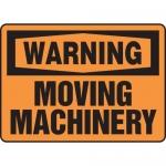 "Accuform MEQM335XF, Dura-Fiberglass Sign ""Warning Moving Machinery"""