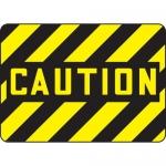 """Accuform MEQM500VA, 10″ x 14″ Aluminum OSHA Sign: """"Caution"""""""