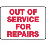 """Accuform MEQM506VP, Plastic Sign """"Out of Service for Repairs"""""""