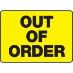 "Accuform MEQM533XF, 7″ x 10″ Dura-Fiberglass Sign: ""Out of Order"""