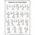 """Accuform MEQM541VA, Graphic Sign """"Standard Crane Hand Signals"""""""