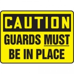 """Accuform MEQM619VP, Plastic Sign """"Caution Guards Must Be in Place"""""""
