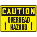 """Accuform MEQM635VP, 10″ x 14″ Plastic Sign: """"Caution Overhead Hazard"""""""