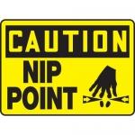 "Accuform MEQM642XT, 10″ x 14″ Dura-Plastic Sign: ""Caution Nip Point"""
