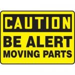 "Accuform MEQM658VS, Vinyl Sign ""Caution Be Alert Moving Parts"""