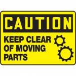 "Accuform MEQM664VS, Vinyl Sign ""Caution Keep Clear of Moving Parts"""