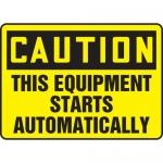"Accuform MEQM677VA, Sign ""This Equipment Starts Automatically"""