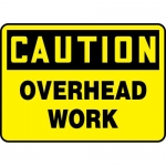 "Accuform MEQM705XL, 7″ x 10″ Aluma-Lite Sign: ""Caution Overhead Work"""