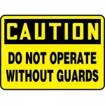 """Accuform MEQM713XL, Sign """"Caution Do Not Operate without Guards"""""""
