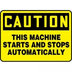"Accuform MEQM721VA, Sign ""This Machine Starts and Stops Automatically"""