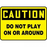 "Accuform MEQM726VS, Adhesive Vinyl Sign ""Do Not Play on or Around"""