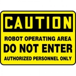 """Accuform MEQM738XF, Sign """"Robot Operating Area Do Not Enter…"""""""