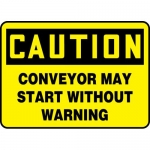 "Accuform MEQM739XF, Sign ""Caution Conveyor May Start without Warning"""