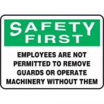 """Accuform MEQM908XL, Sign """"Employees are Not Permitted to Remove …"""""""