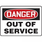 "Accuform MEQT002VS, Adhesive Vinyl Sign ""Danger Out of Service"""