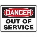 """Accuform MEQT003XL, 14″ x 20″ Aluma-Lite Sign: """"Danger Out of Service"""""""