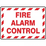 "Accuform MEXG513XF, Dura-Fiberglass Sign ""Fire Alarm Control"""
