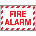 "Accuform MEXG515XF, 7″ x 10″ Dura-Fiberglass Sign: ""Fire Alarm"""