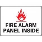 "Accuform MEXG516VA, Sign ""Fire Alarm Panel Inside"" & Fire Symbol"