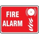 "Accuform MEXG529VA, 10″ x 14″ Aluminum Sign: ""Fire Alarm"" & Symbol"