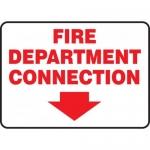 "Accuform MEXG536VA, Sign ""Fire Department Connection"" & Arrow Symbol"