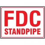 "Accuform MEXG554XL, 10″ x 14″ Aluma-Lite Sign: ""FDC Standpipe"""