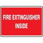 "Accuform MEXG558XL, Aluma-Lite Sign ""Fire Extinguisher Inside"""