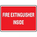 "Accuform MEXG559VS, Adhesive Vinyl Sign ""Fire Extinguisher Inside"""