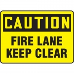 "Accuform MEXG602VS, Adhesive Vinyl Sign ""Caution Fire Lane Keep Clear"""