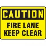 "Accuform MEXG602XL, Aluma-Lite Sign ""Caution Fire Lane Keep Clear"""