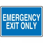 """Accuform MEXT400VP, 10″ x 14″ Plastic Sign: """"Emergency Exit Only"""""""