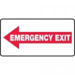 "Accuform MEXT403VP, Plastic Sign ""Emergency Exit"" & Left Arrow Symbol"