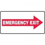 "Accuform MEXT405VP, Plastic Sign ""Emergency Exit"" & Right Arrow Symbol"