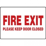 "Accuform MEXT409VS, Vinyl Sign ""Fire Exit Please Keep Door Closed"""