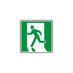 """Accuform MEXT412VA, Aluminum Sign """"Running Man Graphic Symbol"""""""