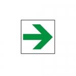 """Accuform MEXT417VA, 8″ x 8″ Aluminum Sign: """"Arrow Symbol"""""""