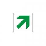 """Accuform MEXT419VA, 8″ x 8″ Aluminum Sign: """"Diagonal Arrow Symbol"""""""