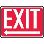 """Accuform MEXT443VA, Aluminum Sign """"Exit"""" & Left Arrow Symbol"""