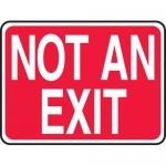 "Accuform MEXT444XF, 10″ x 14″ Dura-Fiberglass Sign: ""Not an Exit"""